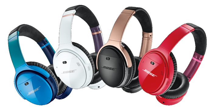 Custom QuietComfort 35 wireless headphones shown in a variety of colors.