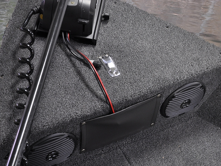 1650 Angler Bow Storage with Optional Speakers