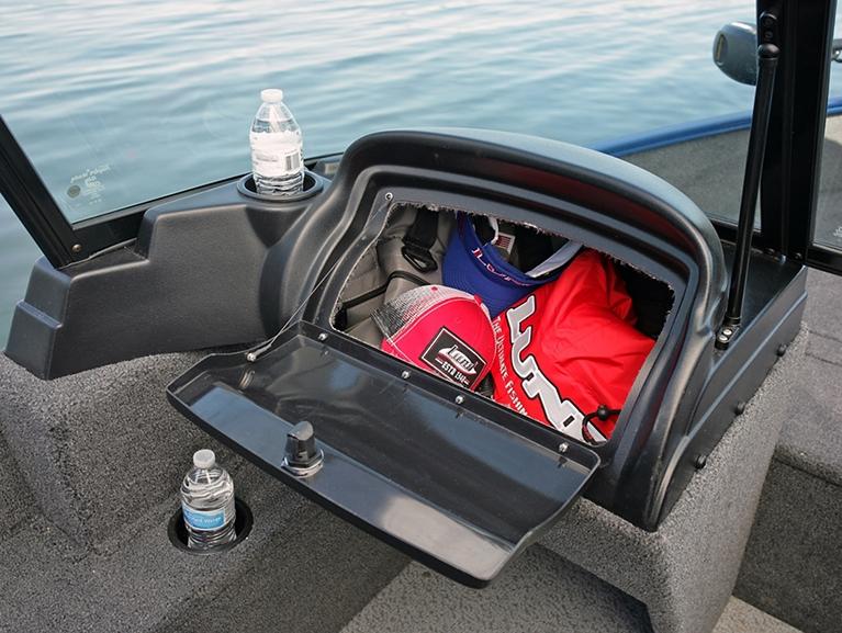 1650 Angler Sport Port Console Glove Box Storage Compartment Open