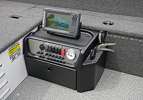 1650 Angler Tiller Command Console with Integrated Tool Holder