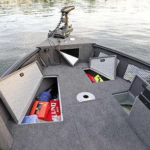1775 Impact XS SS Bow Storage Compartments Open