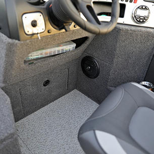 1775 Impact XS Under Console Storage Cubby and Closed Storage Drawer