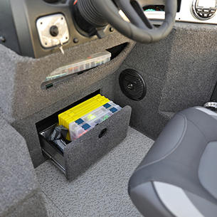 1775 Impact XS Under Console Storage Cubby and Open Storage Drawer