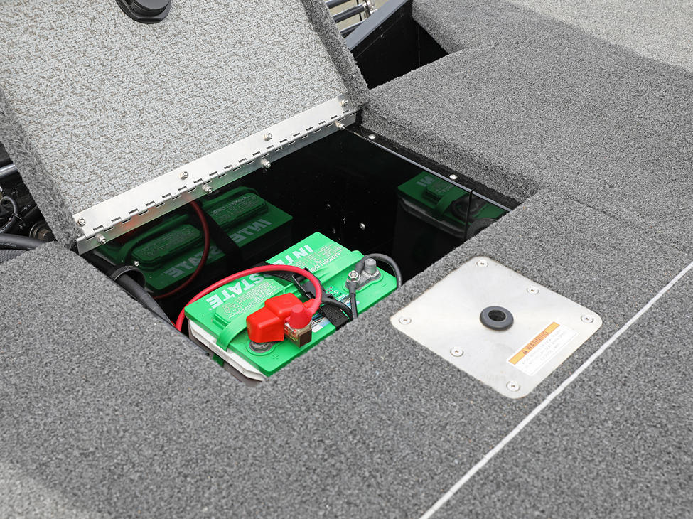 1875-1975 Renegade Aft Deck Battery Storage Compartment