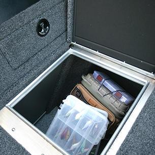 1875-1975 Pro-V Bow Deck Port Storage Compartment Open
