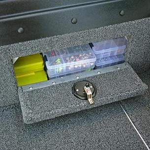 1875-1975 Pro-V Port Console Storage Compartment Open