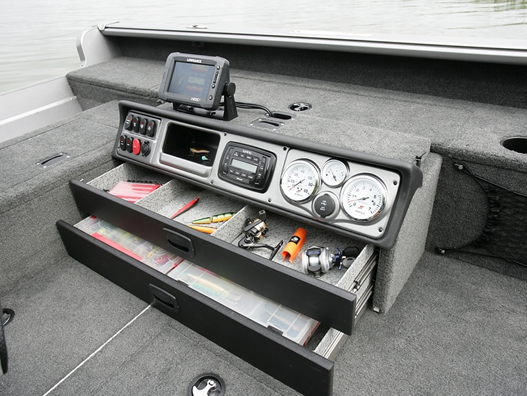 1875-2075 Pro Guide Command Console with Storage Drawers Open