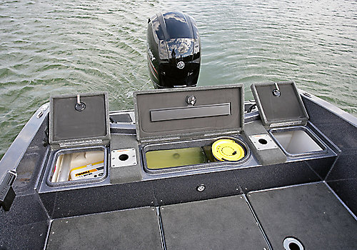 Pro-V GL Aft Storage Compartments Open