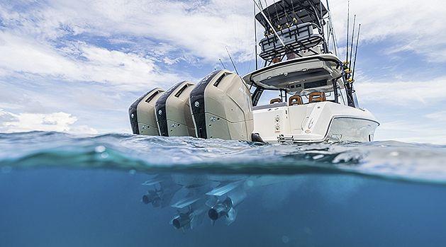 Engines underwater