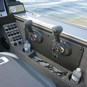 2075-2175 Pro-V Command Console Cubby Storage and Cup Holders