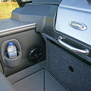 2075-2175 Pro-V Port Console Cup Holder and Stereo Speaker