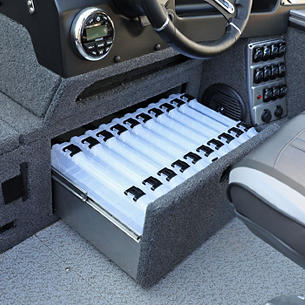 2075-2175 Pro-V Starboard Under Console Tackle Tray Storage Drawer Open