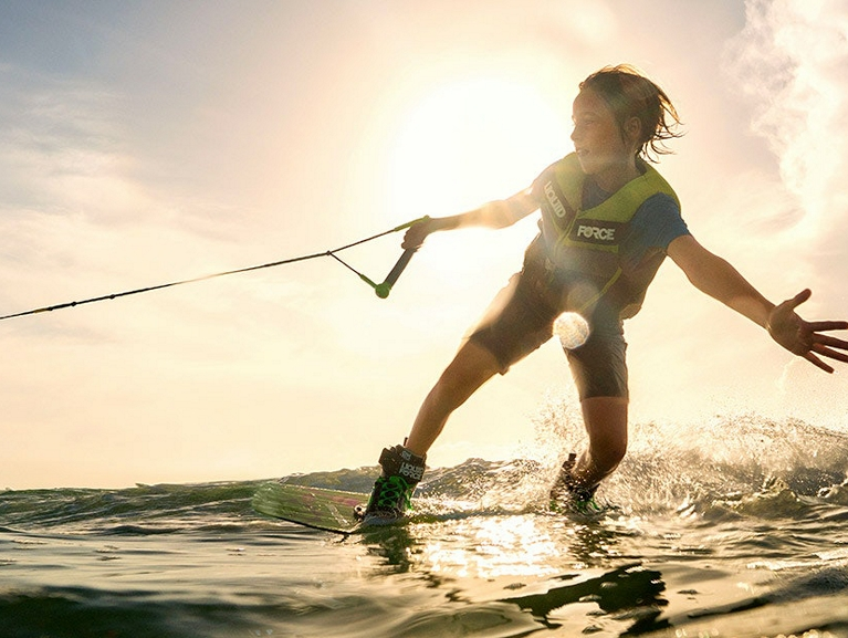Wake Surfing Kid