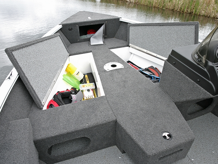 Adventure Bow Storage Compartments Open