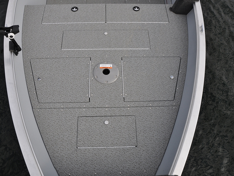 Outfitter Bow Deck Storage Compartments Closed