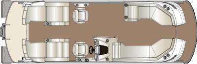 Crowne DLDH 250 Twin Engine Floorplan