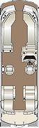 Crowne DLDH 270 Twin Engine Floorplan