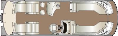 Crowne DLEB 270 Twin Engine Floorplan