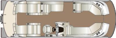 Crowne DL 250 Twin Engine Floorplan
