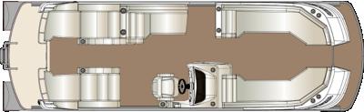 Crowne DL 270 Twin Engine Floorplan