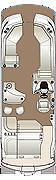 Crowne SLEB 250 Twin Engine Floorplan