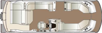 Crowne SL 250 Twin Engine Floorplan