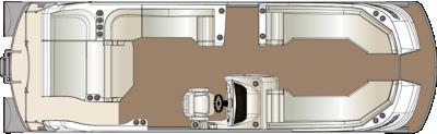 Crowne SL 270 Twin Engine Floorplan