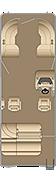 Cruiser SLDH 250 Floorplan