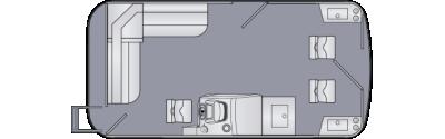 Cruiser LX 160 FS Floorplan