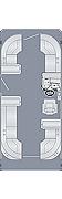 Sunliner 210 CW Floorplan
