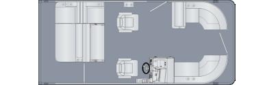 Sunliner 210 SLDH Floorplan