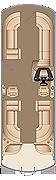 Grand Mariner CWDH 250 Twin Engine Floorplan