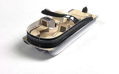 Harris Pontoon Boat Paper Craft