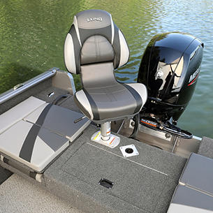 Impact XS Aft Deck with Seat shown with Optional Aft Deck Sun Pad