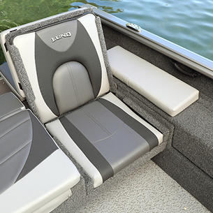 Impact XS Aft Jump Seat Port Side (Shown with Optional Aft Deck Sun Pad)