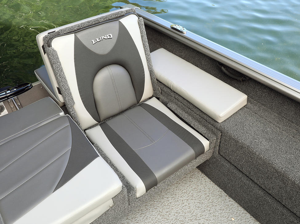 Impact XS Aft Jump Seat Port Side shown with Optional Aft Deck Sun Pad