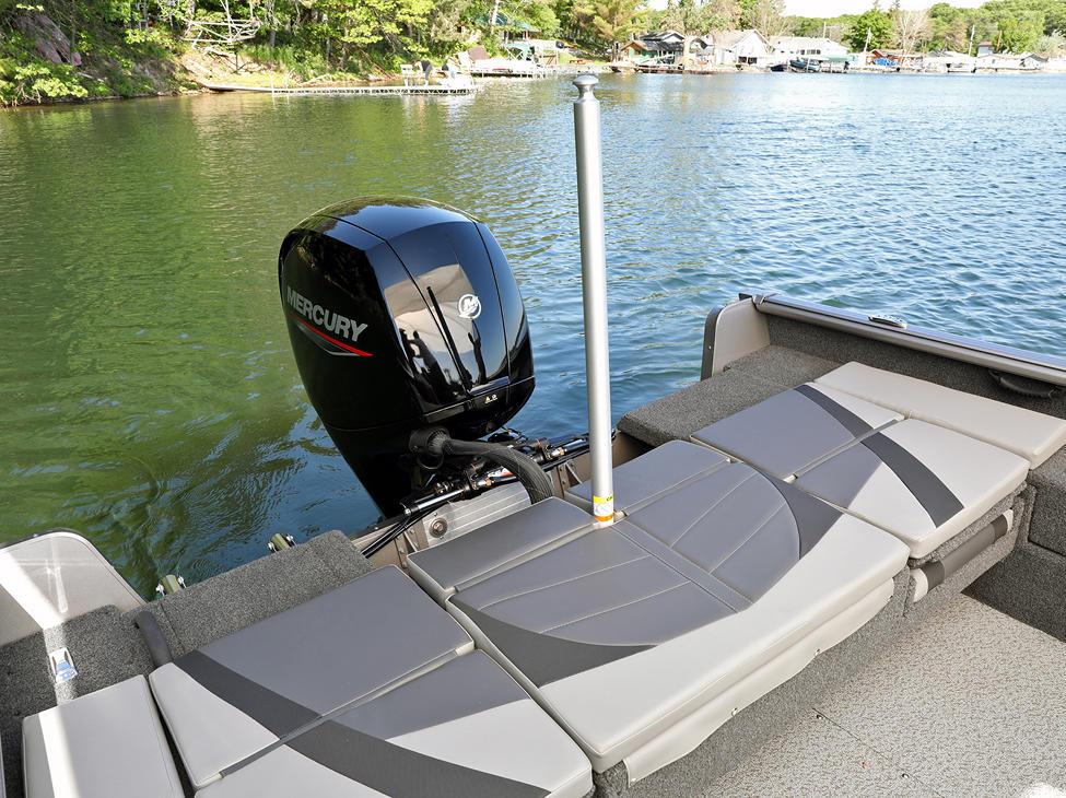 Impact XS Optional Aft Deck Sun Pad (Shown with Optional Ski Pylon)