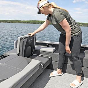 Impact XS SS Aft Jump Seat with Optional Aft Deck Sun Pad