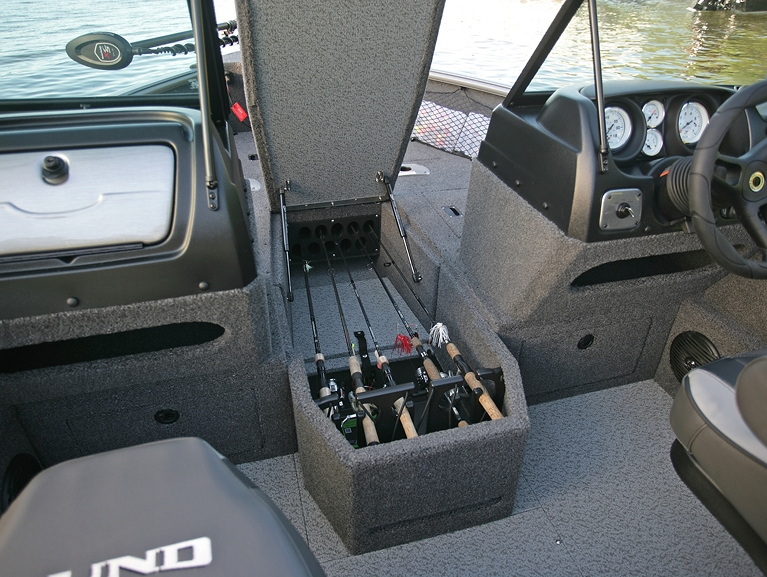 Impact Bow Deck Center Rod Locker Storage Compartment Open