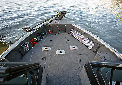 Impact Bow Deck Storage Compartments Closed (Shown with Optional Multi-Base)