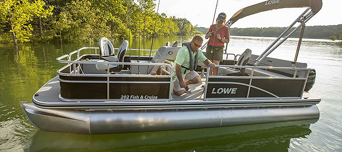 Lowe Blog LEARN HOW TO FISH FROM PONTOON BOATS