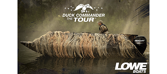 Lowe Lifestyle DUCK COMMANDER THE TOUR TO SHOWCASE LOWE BOATS ROUGHNECK BOATS