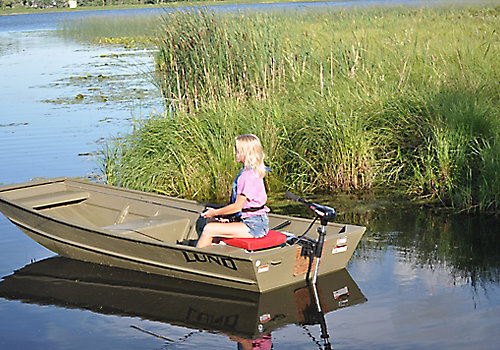 Lund Jon Boat Fishing