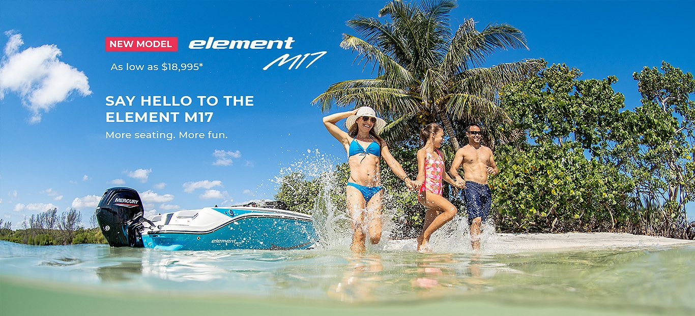 Bayliner new product launch Element M17