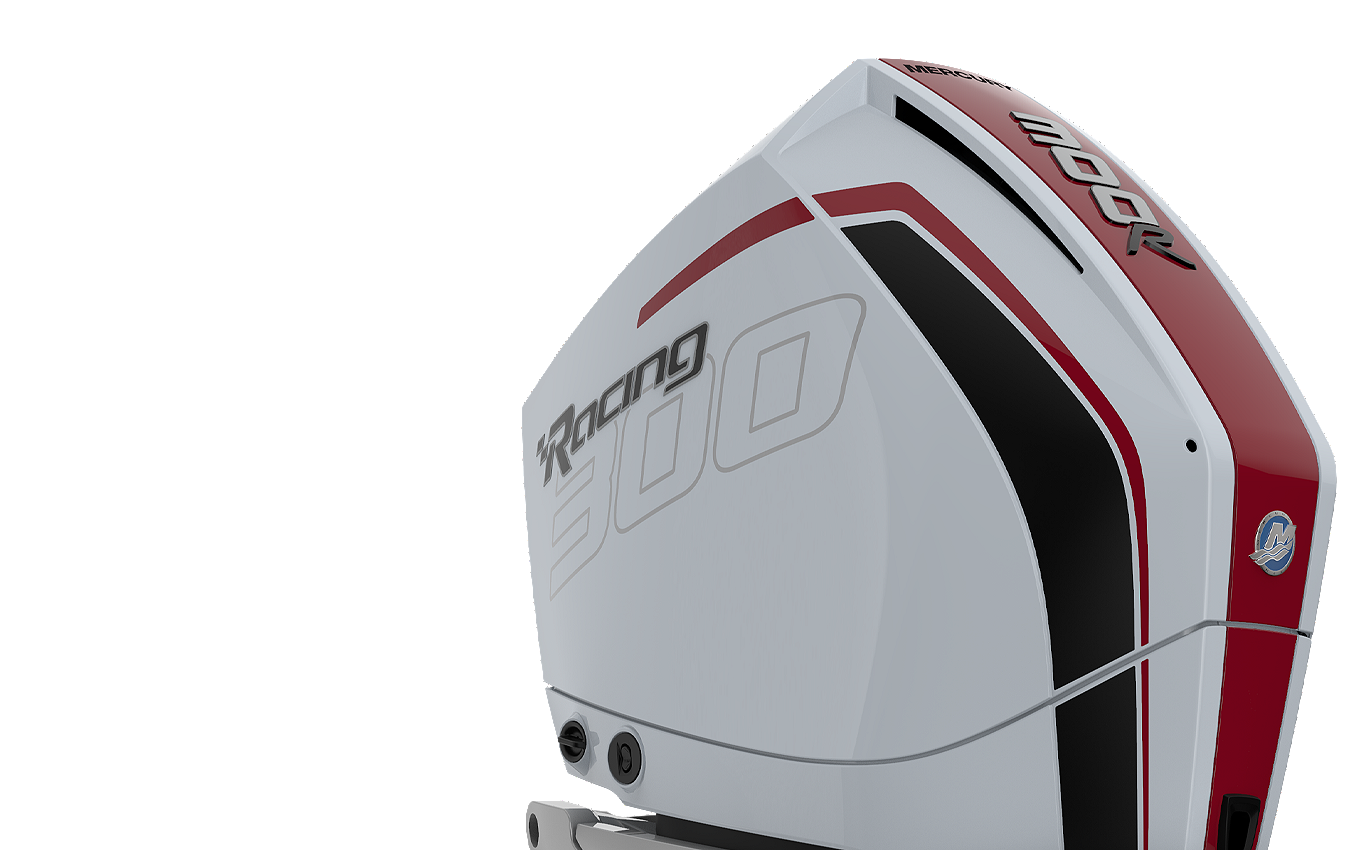 Mercury Racing 300 R AMS white red black metallic side