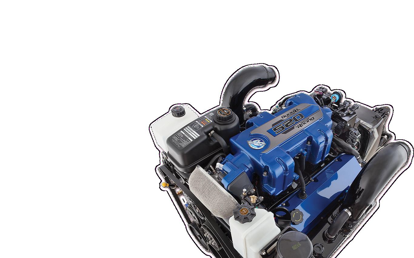 Mercury 520 sterndrive engine top