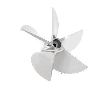 Five-sided boat engine propeller 600 HP Mercury Racing