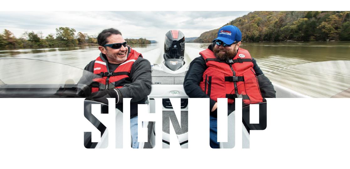 Two men boat lake
