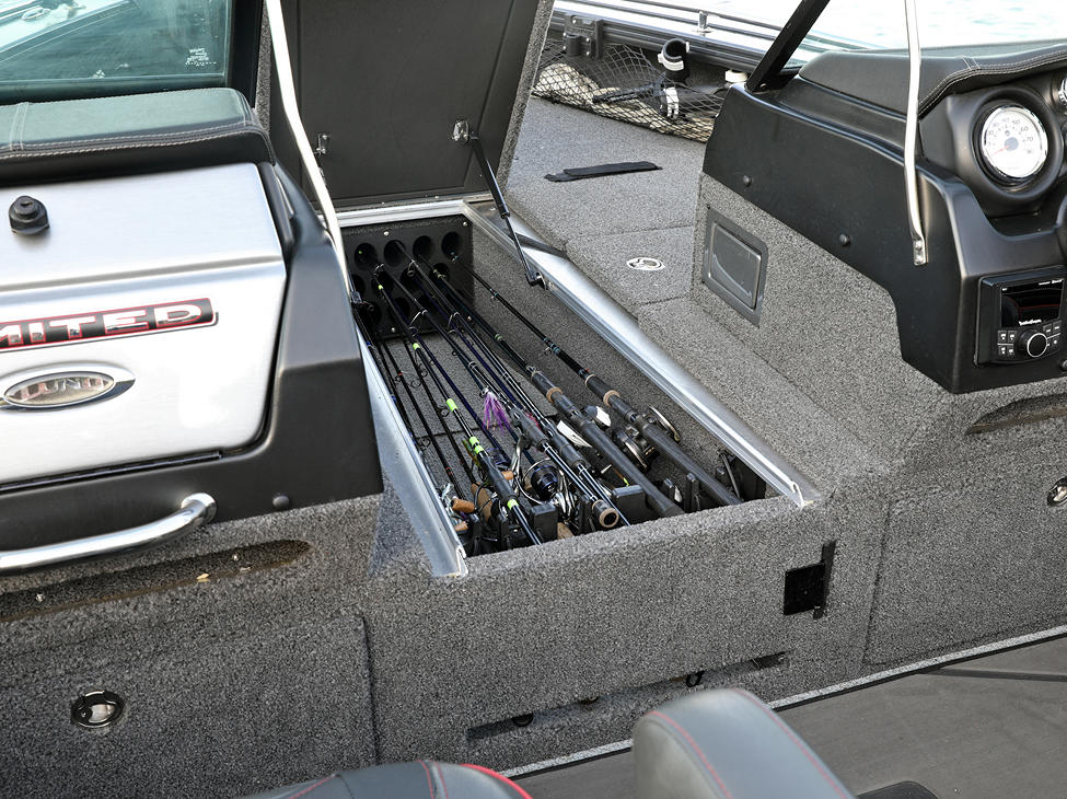 Pro-V Limited Center Rod Storage Compartment Open