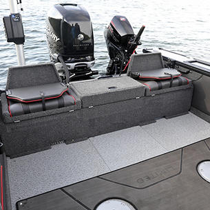 Pro-V Limited Multi-Part Aft Flip Bench - Flipped Up with Seats Closed